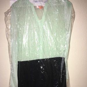 Cute mint green & black dress!